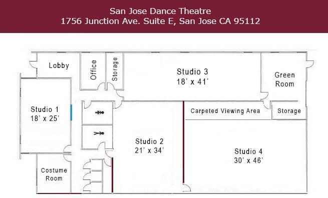 SJDT Studio Layout Map