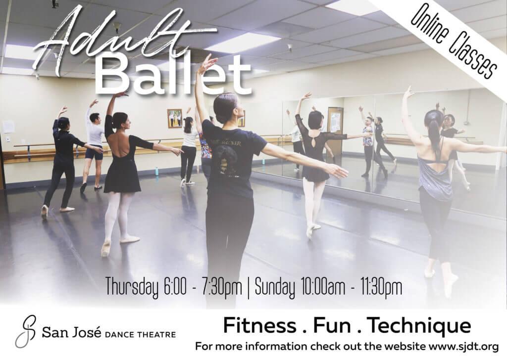 Adult ballet classes poster