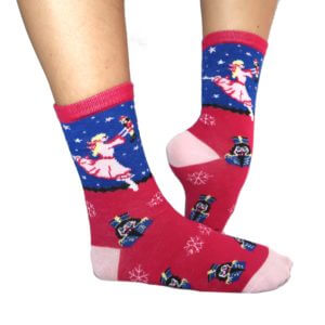 Kids Dreaming Clara and Her Nutcracker Socks