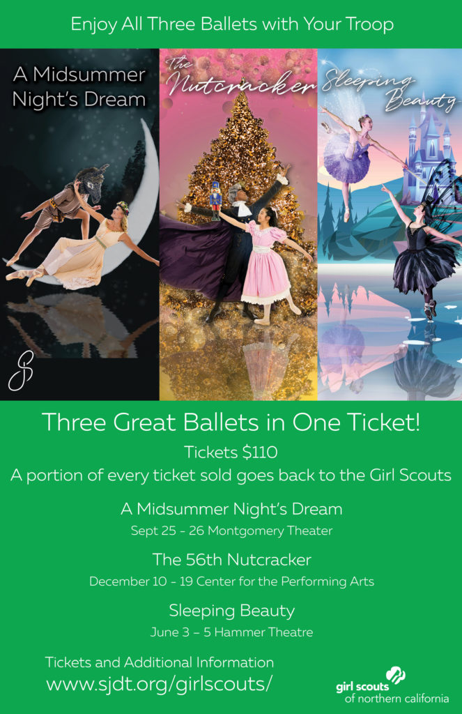 All three Ballets Girl Scouts Poster
